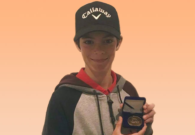 Kieran Wins Monthly Medal