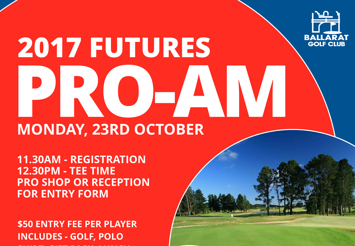 2017 Futures Pro Am Entry Form