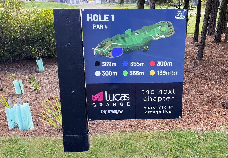 Brand New Tee Signs Installed
